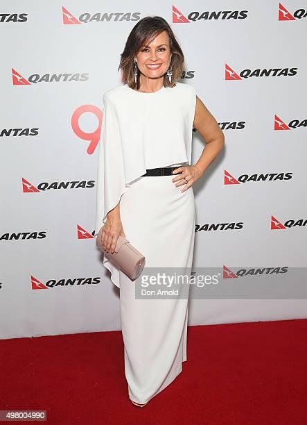 Lisa Wilkinson arrives at the QANTAS 95th Birthday Gala Celebration at Hangar 96 in the Qantas Jetbase on November 20 2015 in Sydney Australia