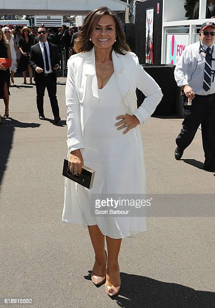 Lisa Wilkinson arrives on Derby Day at Flemington Racecourse on October 29 2016 in Melbourne Australia