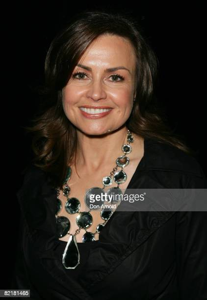 Lisa Wilkinson attends the after party for the David Jones Summer 2008 Collections Launch 'Summer In The City' event at the Royal Hall of Industries...