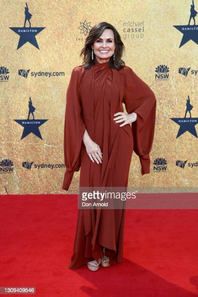 Lisa Wilkinson attends the Australian premiere of Hamilton at Lyric Theatre, Star City on March 27, 2021 in Sydney, Australia.