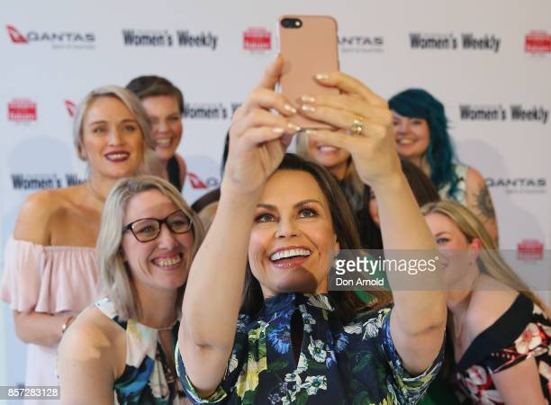 Lisa Wilkinson takes a selfie with finalists ahead of the annual Women of the Future awards on October 4 2017 in Sydney Australia