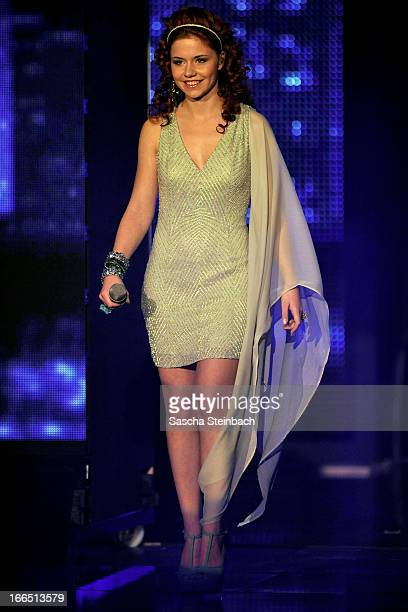 Lisa Wohlgemuth attends the rehearsal of the fifth 'Deutschland Sucht Den Superstar' Show at Coloneum on April 13 2013 in Cologne Germany