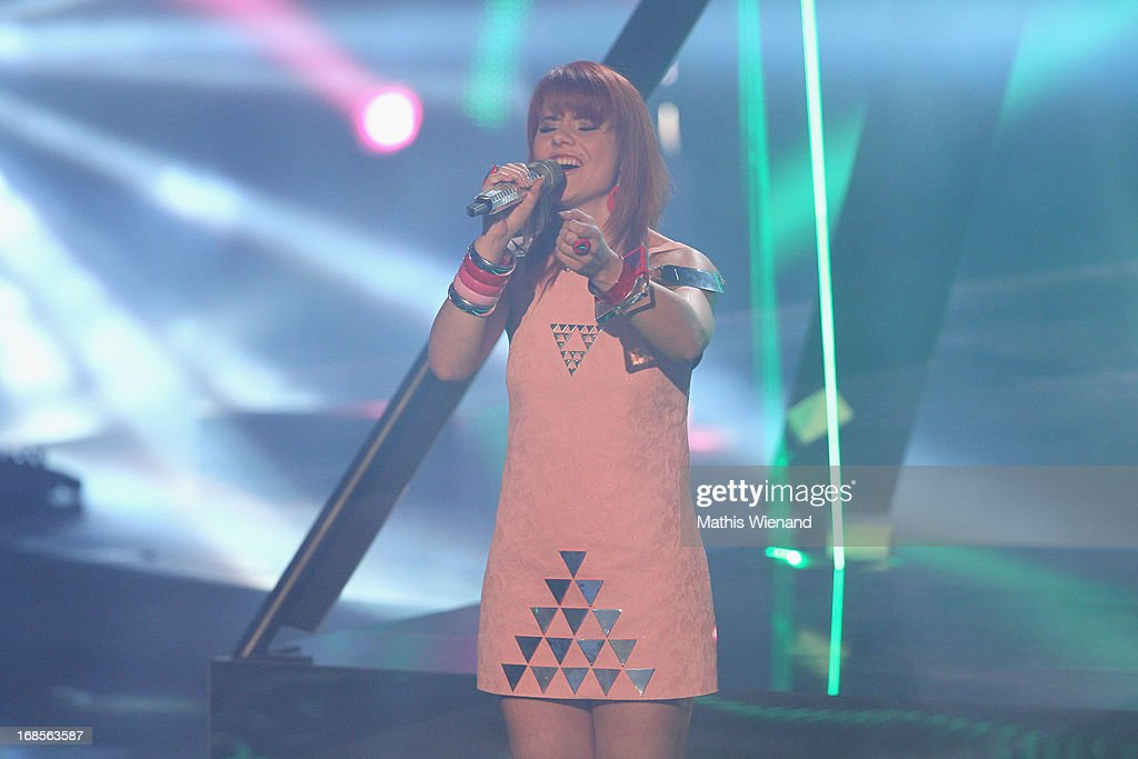 Lisa Wohlgemuth performs at the 'Deutschland sucht den Superstar' Finals on May 11, 2013 in Cologne, Germany.