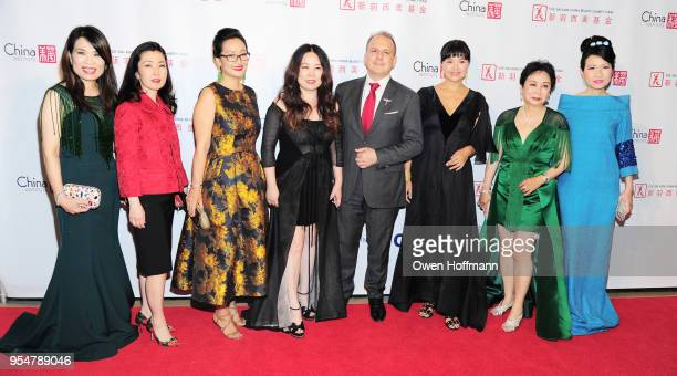 Lisa Ye Miyoko Demay Katy Chen Grace Chen Philippe Galtie Lan Shi Sophia Sheng and ChiuTi Jansen attend the 2018 China Fashion Gala at The Plaza...