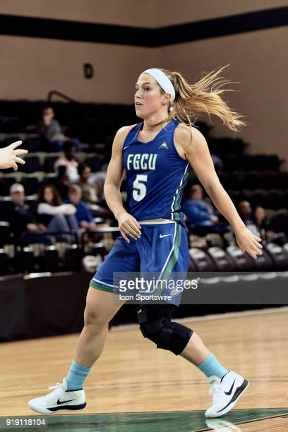 Lisa Zderadicka guard Florida Gulf Coast University Eagles looks for a spot to set a pick against the USC Upstate Spartans in the Eddie and Ann Payne...