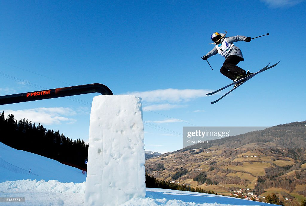Lisa Zimmermann of Germany competes during the Women's Freestyle Skiing Slopestyle Final of the FIS Freestyle Ski and Snowboard World Championships 2015 on January 21, 2015 in Kreischberg, Austria.