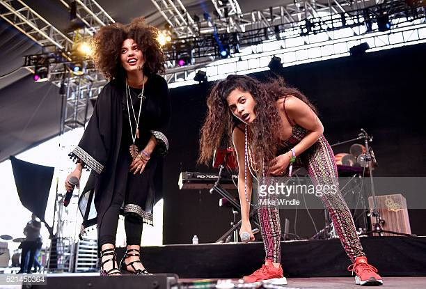 LisaKainde Diaz and Naomi Diaz perform onstage during day 1 of the 2016 Coachella Valley Music Arts Festival Weekend 1 at the Empire Polo Club on...
