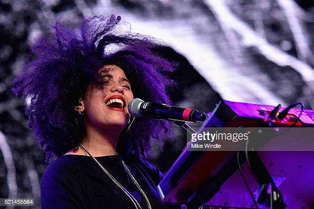 LisaKainde Diaz of Ibeya performs onstage during day 1 of the 2016 Coachella Valley Music Arts Festival Weekend 1 at the Empire Polo Club on April 15...