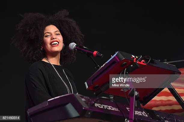 LisaKainde Diaz performs onstage during day 1 of the 2016 Coachella Valley Music Arts Festival Weekend 1 at the Empire Polo Club on April 15 2016 in...