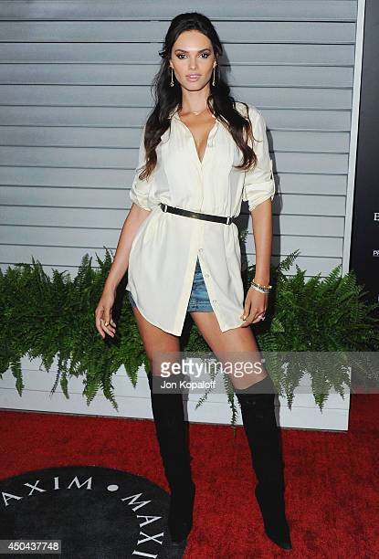 Lisalla Montenegro arrives at the MAXIM Hot 100 Celebration Event at Pacific Design Center on June 10 2014 in West Hollywood California