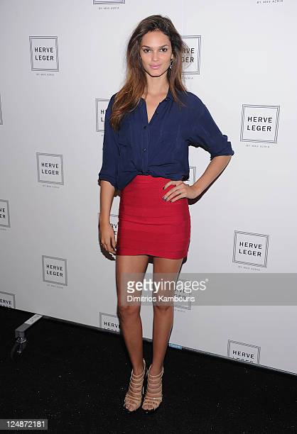 Lisalla Montenegro attends the Herve Leger by Max Azria Spring 2012 fashion show during Mercedes-Benz Fashion Week at The Theater at Lincoln Center...
