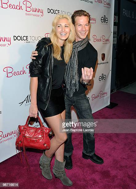 LisaMarie Kohrs and Sean Brosnan attend the Beach Bunny Swimwear's grand opening party on April 27 2010 in Los Angeles California