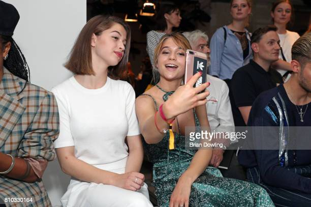 LisaMarie Koroll and her sister attend the Prabal Gulung Design show during the MercedesBenz Fashion Week Berlin Spring/Summer 2018 at Kaufhaus...