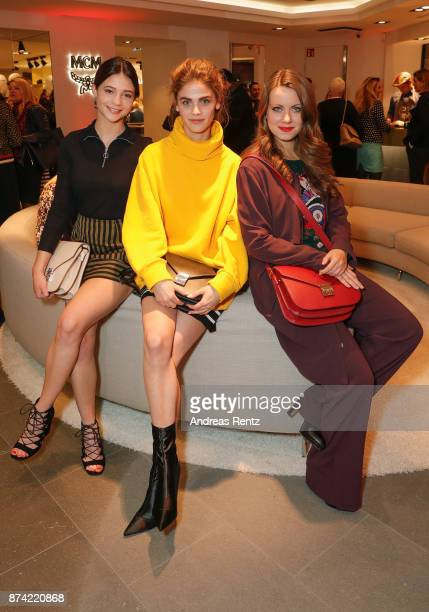 LisaMarie Koroll Lisa Tomaschewsky and Alice Dwyer attend the MCM Frankfurt Opera Store event on November 14 2017 in Frankfurt am Main Germany