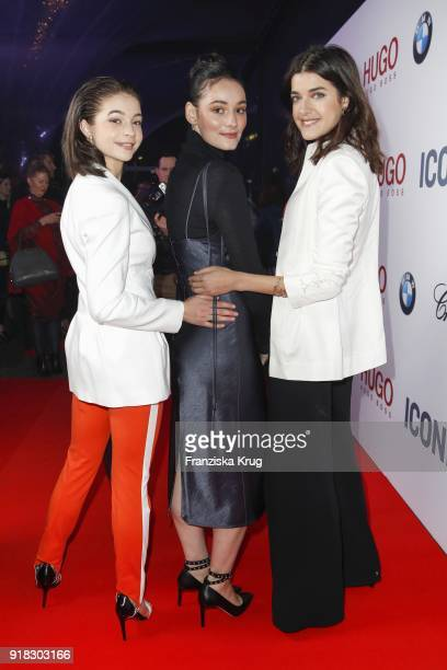 LisaMarie Koroll Maria Ehrich and Marie Nasemann attend the Young ICONs Award in cooperation with ICONIST at SpindlerKlatt on February 14 2018 in...