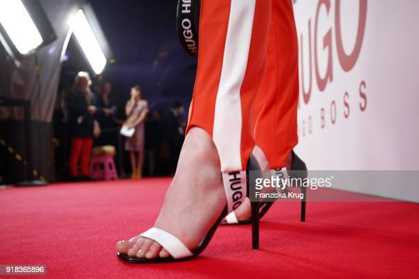 LisaMarie Koroll shoe detail attends the Young ICONs Award in cooperation with ICONIST at SpindlerKlatt on February 14 2018 in Berlin Germany
