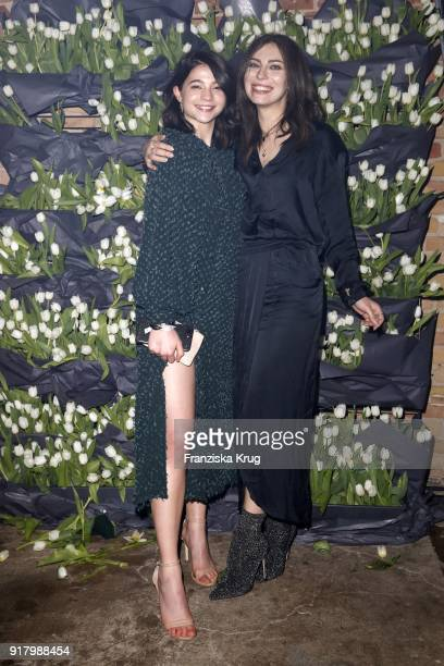 LisaMarie Koroll wearing HM and Masha Sedgwick during the Inter/VIEW X HM Party on February 13 2018 in Berlin Germany