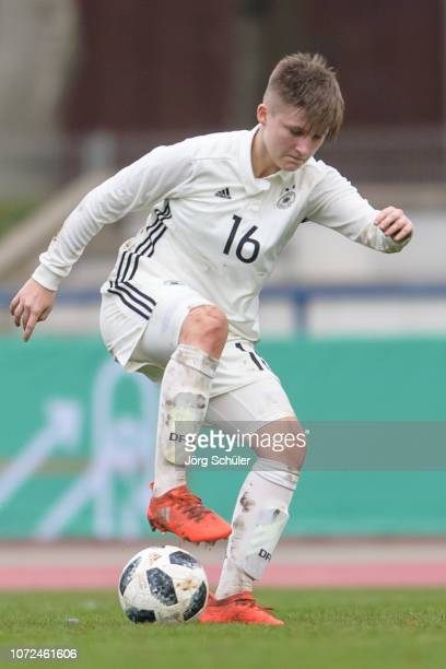 Lisan Alkemade of Germany during the U17 Girl's international friendly match between Germany and Netherlands at the Sportpark on December 12 2018 in...