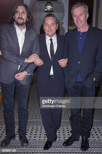 Lisandro Alonso Bruno Barde and Bruno Dumont attend the diner of the tribute to d'isabelle adjani during the 16th Marrakech International Film...