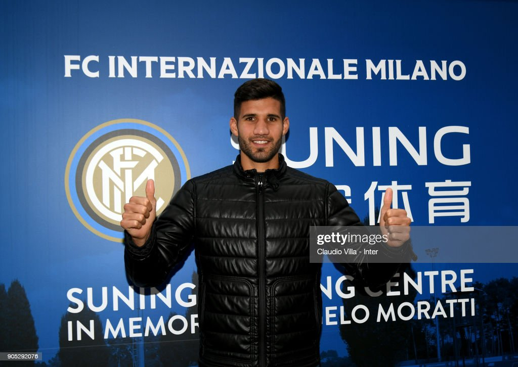 FC Internazionale New Signing Lisandro Lopez Visits Club Training Ground
