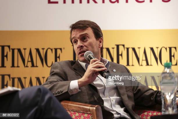 Lisandro Nieri Province of Mendoza's finance minister speaks during the Argentina SubSovereign and Infrastructure Finance Summit in Buenos Aires...