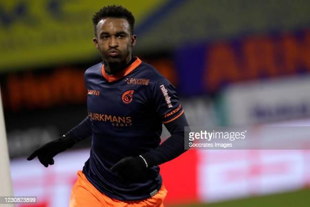 Lisandro Semedo of Fortuna Sittard celebrates 0-2 during the Dutch Eredivisie match between RKC Waalwijk v Fortuna Sittard at the Mandemakers Stadium...