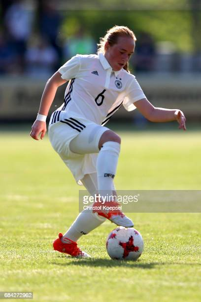 Lisanne Graewe of Germany runs with the ball during the U15 girl's international friendly match between Germany and Netherlands at Getraenke Hoffmann...