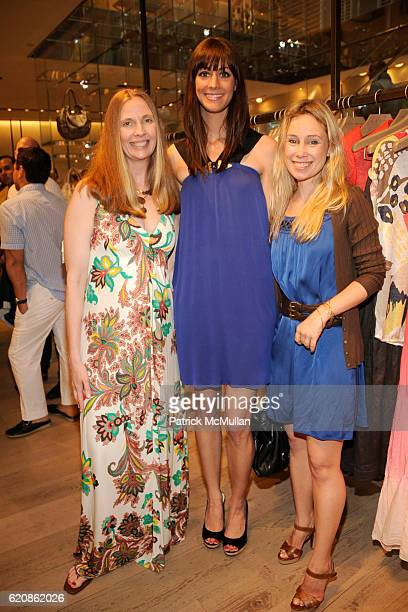 Lisanne Menke Erin Gray and Carly White attend Rory and Elie Tahari celebrate the Summer Collection with Kenny Scharf at Elie Tahari Flagship Store...