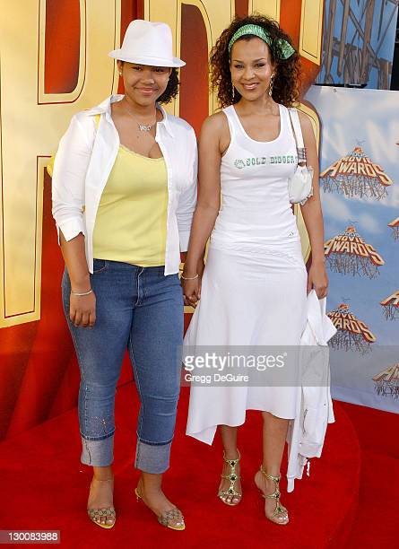 LisaRaye and daughter Kai during 2005 MTV Movie Awards Arrivals at Shrine Auditorium in Los Angeles California United States