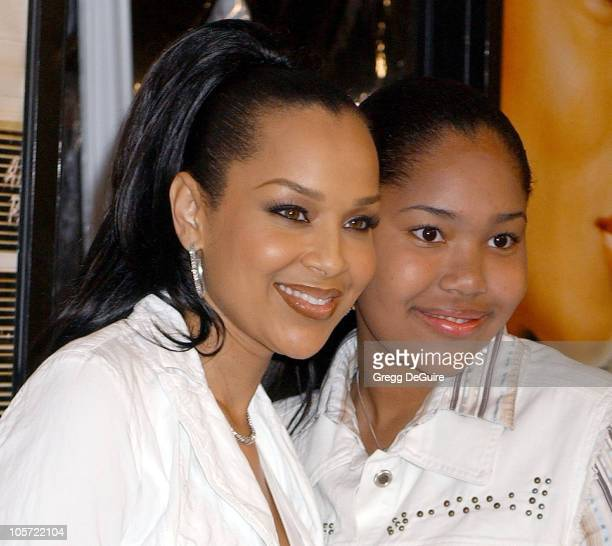 LisaRaye and daughter Kai during Beauty Shop World Premiere Arrivals at Mann National Premiere in Westwood California United States