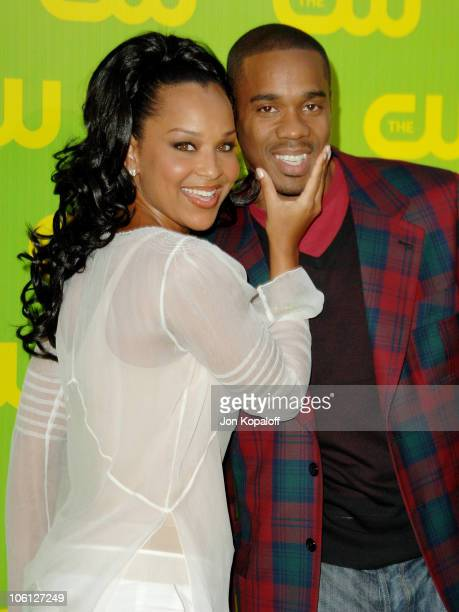 LisaRaye McCoy and Duane Martin during The CW Launch Party - Arrivals at WB Main Lot in Burbank, California, United States.