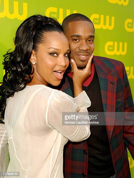 LisaRaye McCoy and Duane Martin during The CW Launch Party - Green Carpet at WB Main Lot in Burbank, California, United States.
