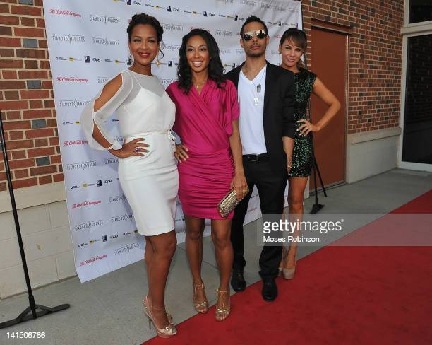 LisaRaye McCoy Travis Winfrey and Charity Shea the Not Alone Foundation Second Biennial Diamond Awards at Morehouse College Ray Charles Performing...