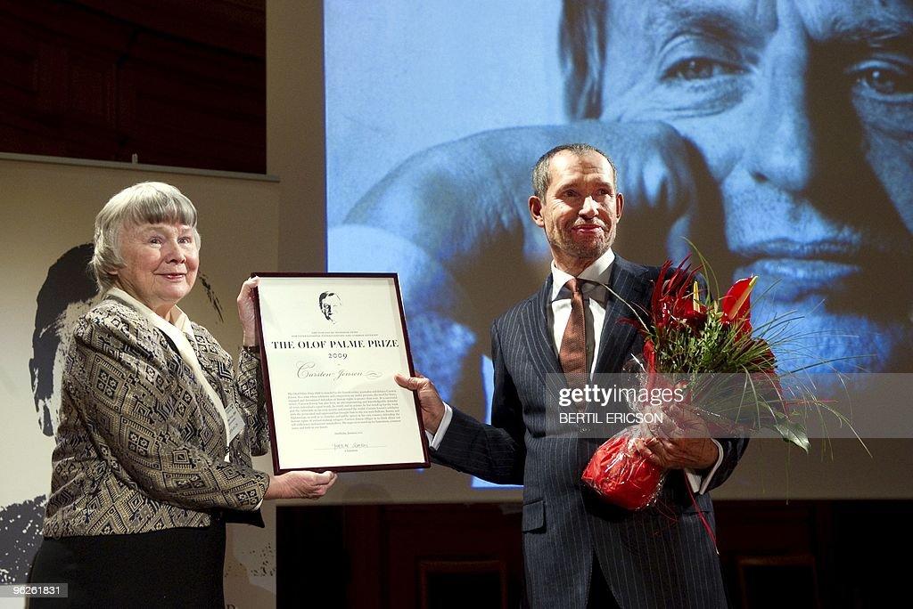 Lisbeth Palme, widow of late Swedish Pri : News Photo