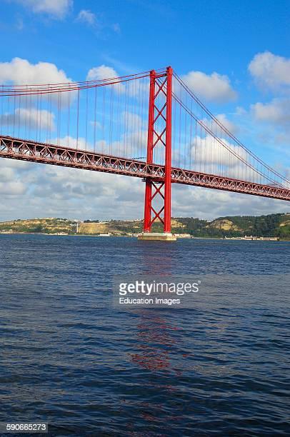 Lisbon 25th abril bridge Tagus river Tejo River Portugal