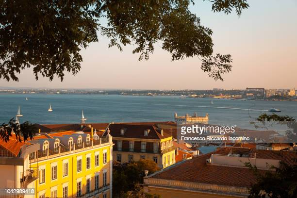 Lisbon and Tagus river at sunset