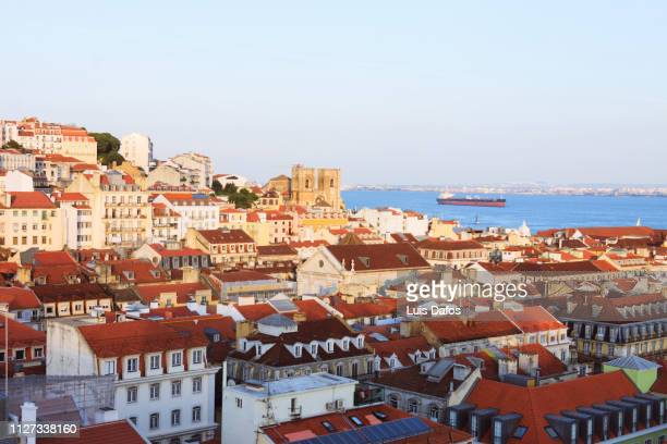 lisbon, baixa overhead - general view stock pictures, royalty-free photos & images