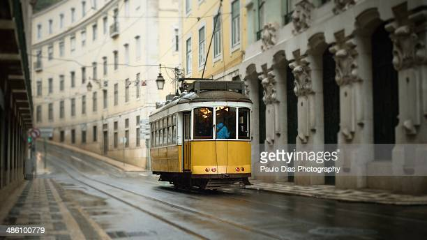 lisbon by tram - land vehicle stock pictures, royalty-free photos & images