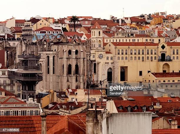 Lisbon, Carmo Convent Ruins and Santa Justa Lift