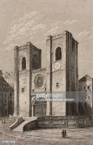 Lisbon Cathedral Portugal engraving by Lemaitre from Portugal by Ferdinand Denis L'Univers pittoresque published by Firmin Didot Freres Paris 1846