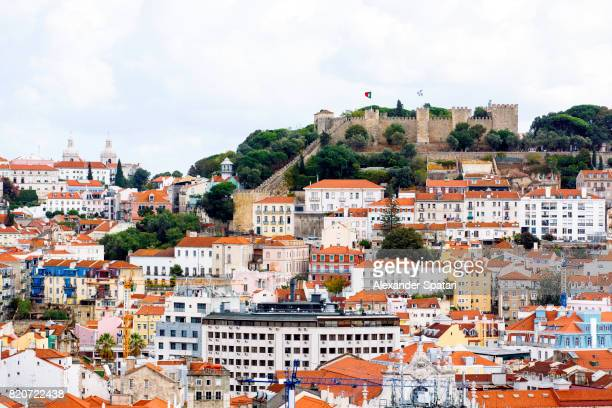 Lisbon cityscape with Sao Jorge Castle, Portugal