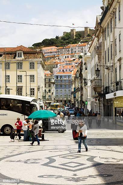 ダウンタウンリスボン - フォゲイラ広場 ストックフォトと画像