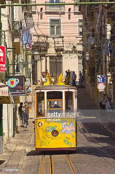 Lisbon Elevador da Bica Bairro Alto Rua da Bica de Duarte Belo Portugal Europe