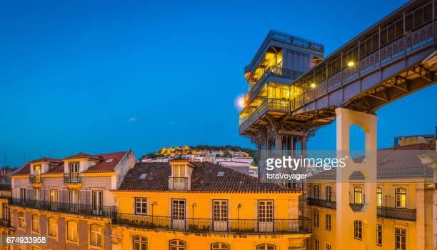 Elevador de Santa Justa Castelo de Sao Jorge Lissabon