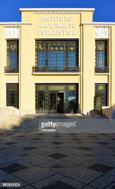 lisbon - government building of the instituto nacional de estatística (ine), the national statistical institute of portugal - calçada stock pictures, royalty-free photos & images