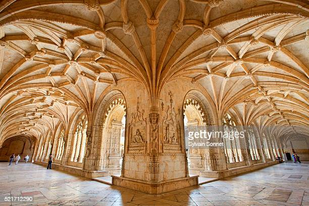 lisbon, jeronimos monastery at belem - cloister stock pictures, royalty-free photos & images