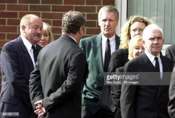 Lisbon Lions Captain Billy McNeil arrives at St Columbkille's in Rutherglen Glasgow where Celtic stars of the past and present are due to join family...