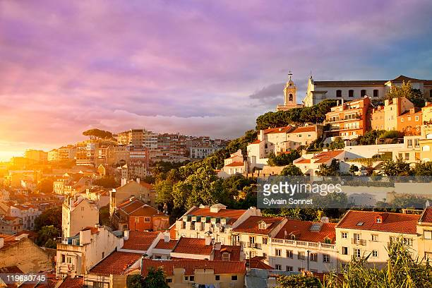 Lisbon, Old Town at Sunset