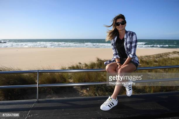 Lisbon Portugal 5 November 2017 Anastasia Ashley Pro Surfer at Foz do Lizandro during day two of Surf Summit prior to Web Summit 2017 in Ericeira...