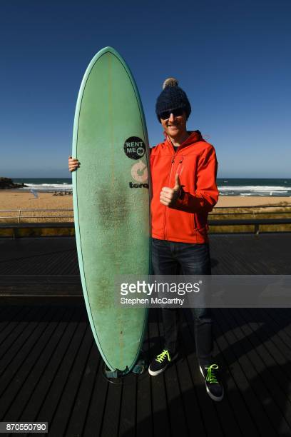 Lisbon Portugal 5 November 2017 Paddy Cosgrave CEO Web Summit at Foz do Lizandro during day two of Surf Summit prior to Web Summit 2017 in Ericeira...